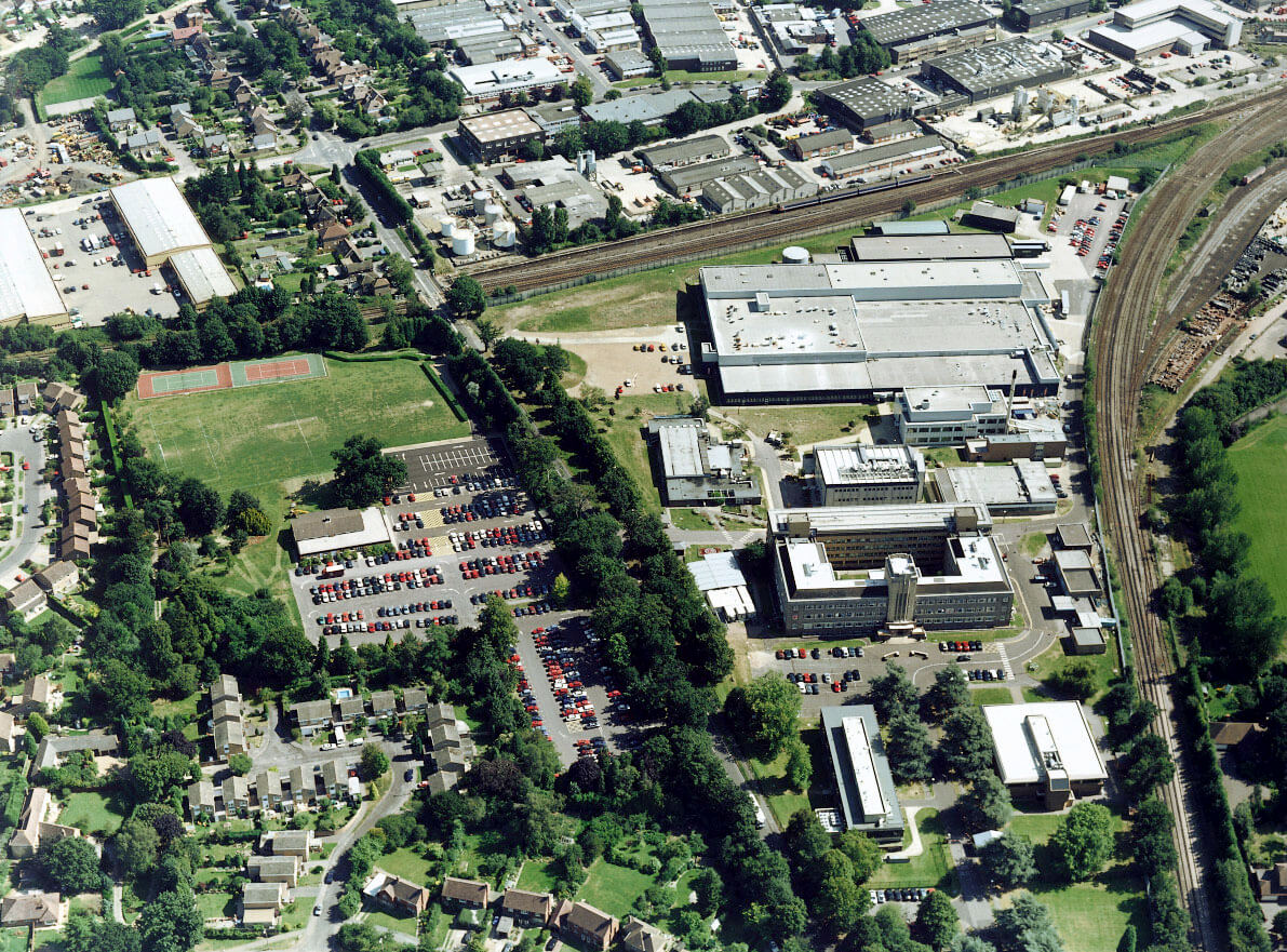 Aerial view of the site taken when it was occupied by Novartis Pharmaceuticals